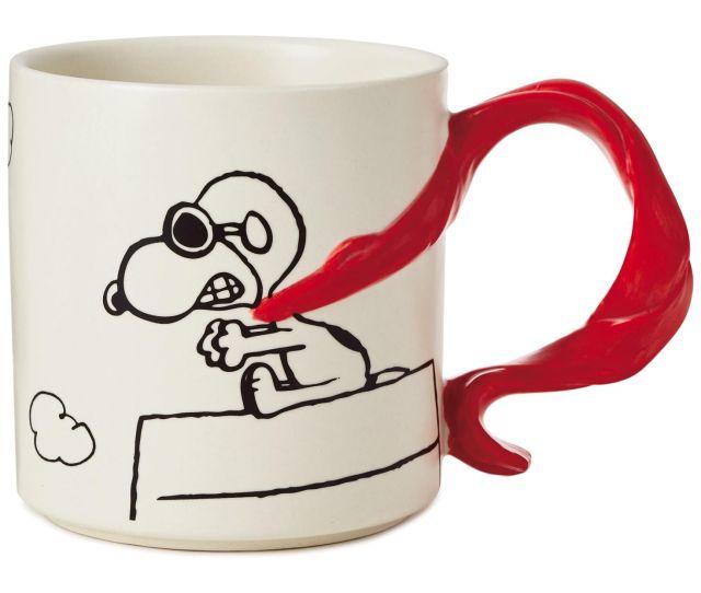 Peanuts Snoopy Flying Ace With Scarf Handle Mug  Oz
