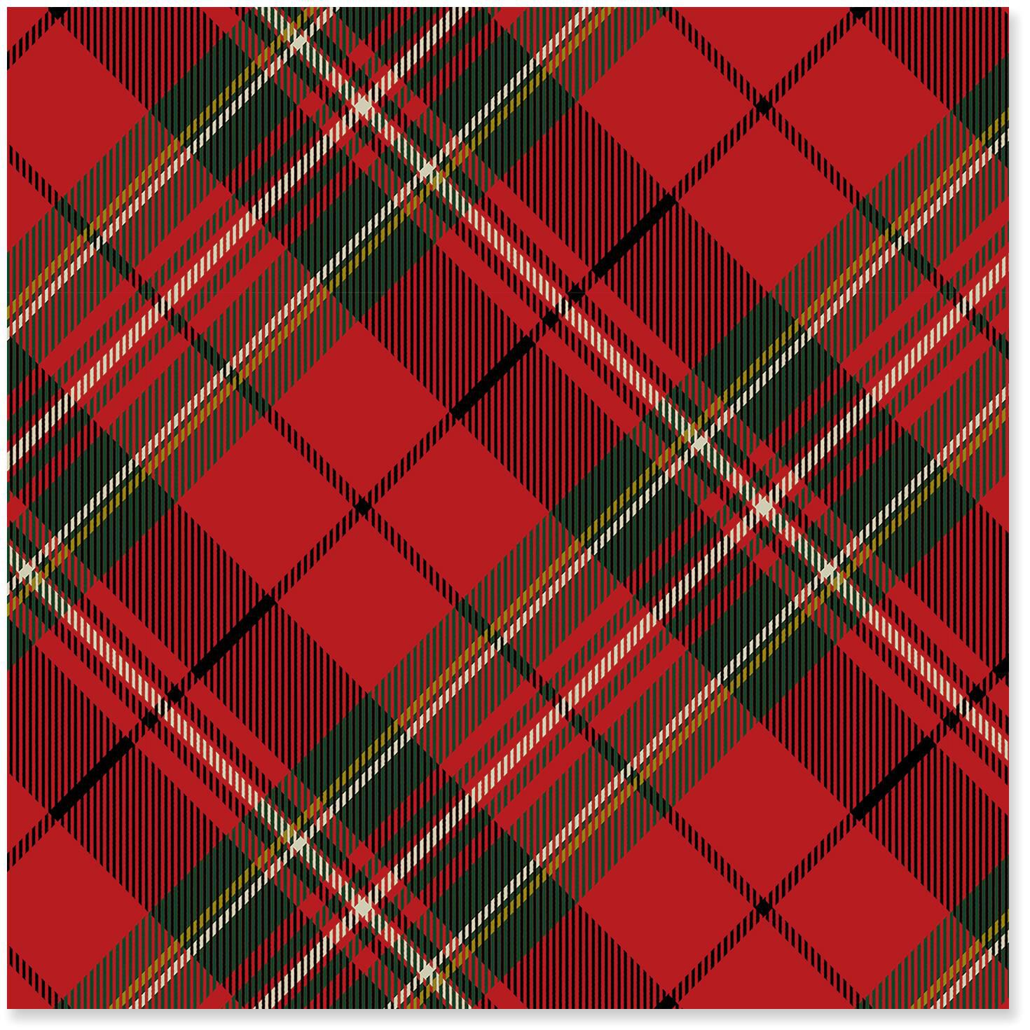 Red Plaid Christmas Wrapping Paper Roll 45 Sq Ft