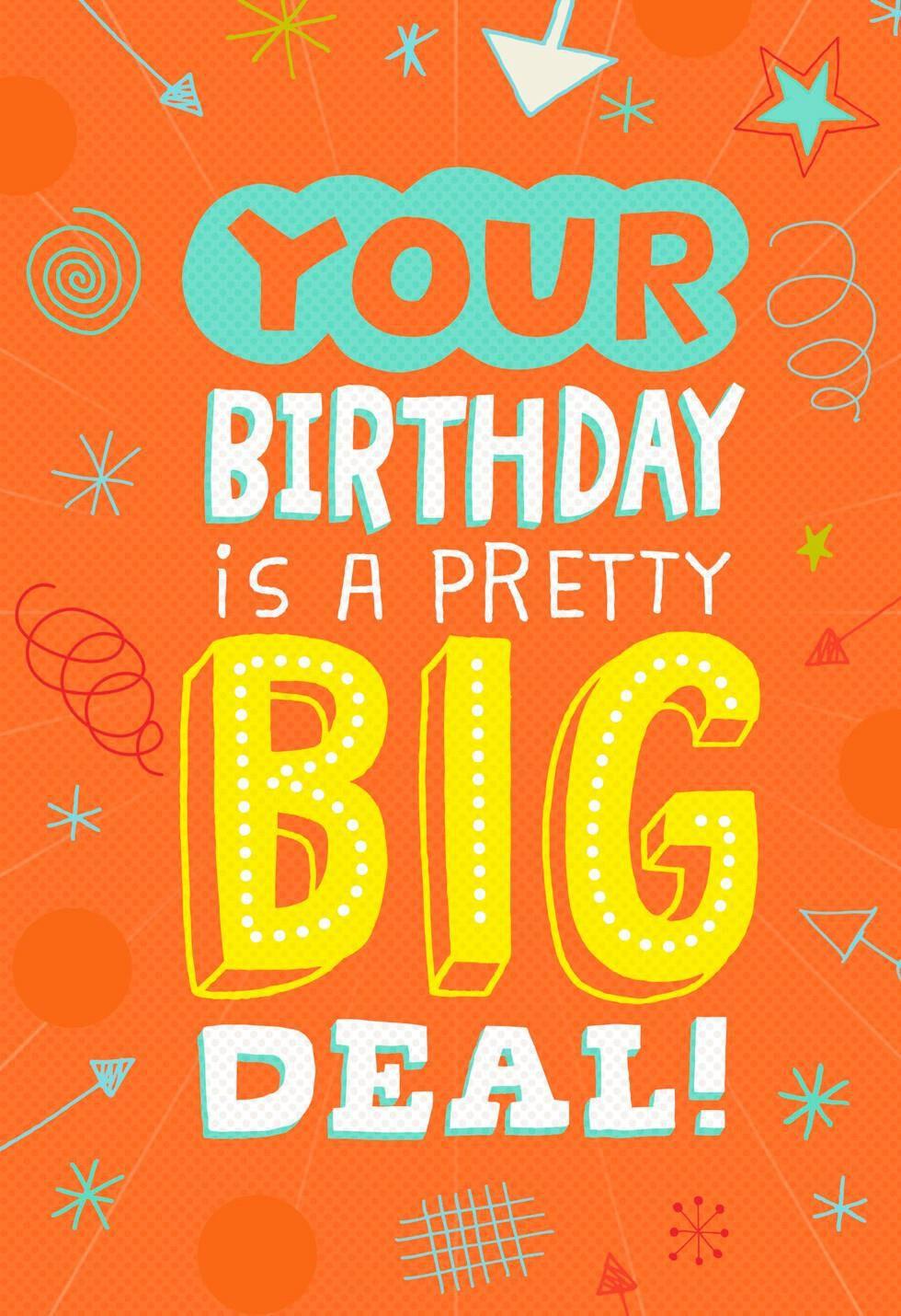 A Pretty Big Deal Musical Birthday Card Greeting Cards