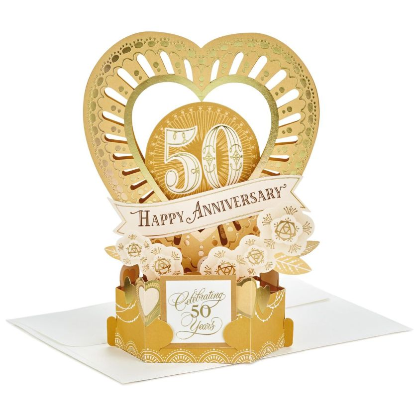 Celebrate The Years Pop Up 50th Anniversary Card Greeting Cards Hallmark