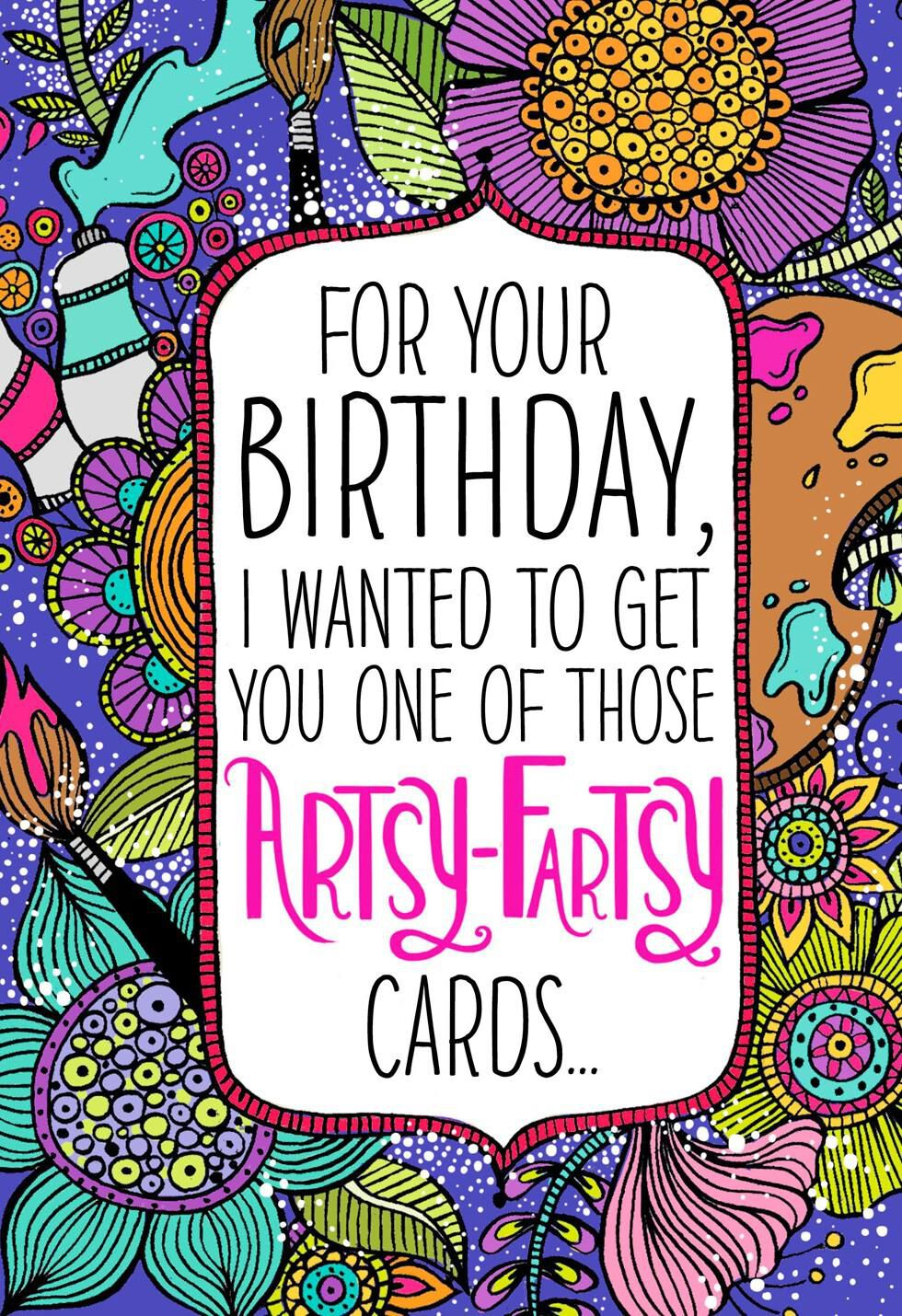 Artsy Fartsy Musical Birthday Card Greeting Cards Hallmark