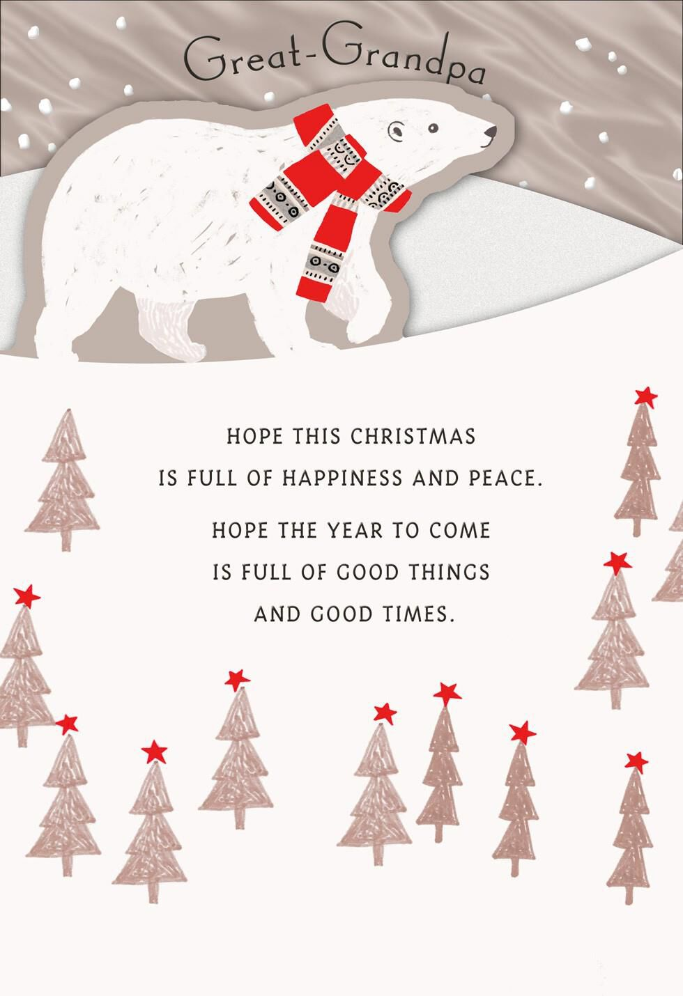 Great Grandpa Christmas Card Greeting Cards Hallmark