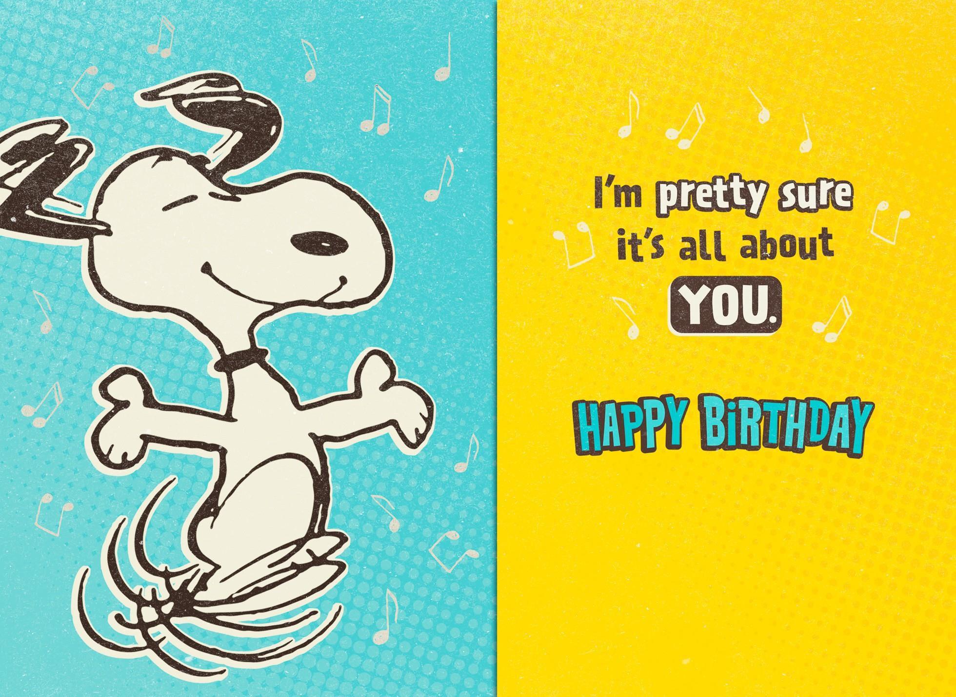 Peanuts Snoopy Happy Dance Musical Birthday Card