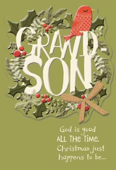 Grandson Religious Christmas Card Greeting Cards Hallmark