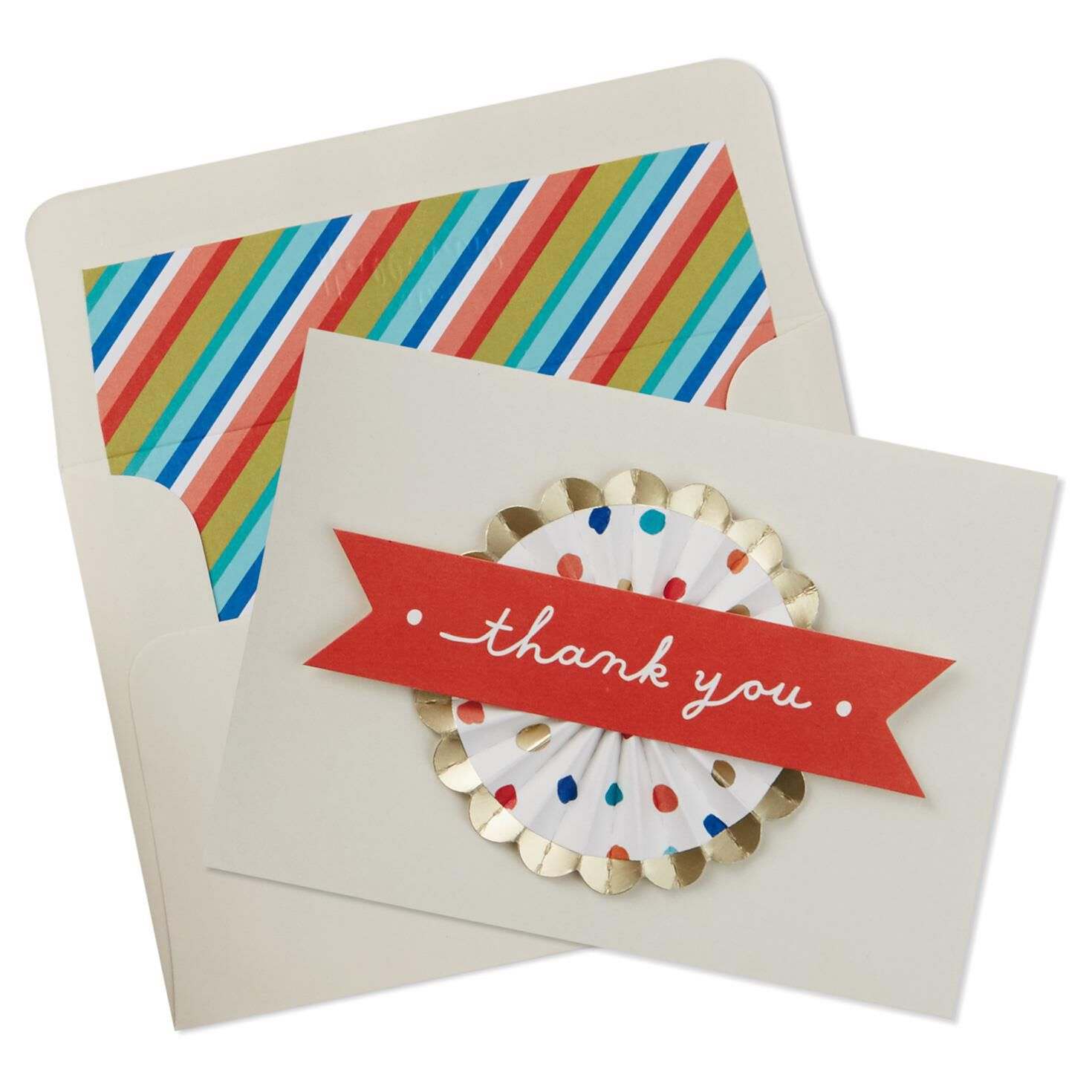 Colorful Medallion With Dots Thank You Notes, Pack Of 8 - Note Cards -  Hallmark