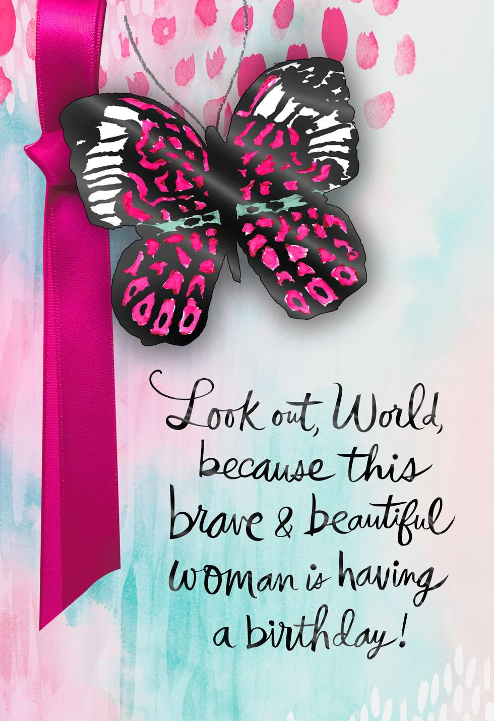 Brave And Beautiful Birthday Card Supporting Susan G