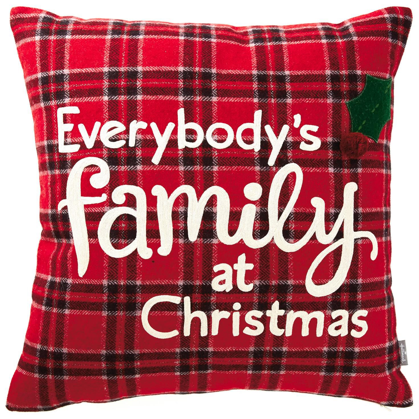 Family at Christmas Throw Pillow 18  Pillows  Blankets
