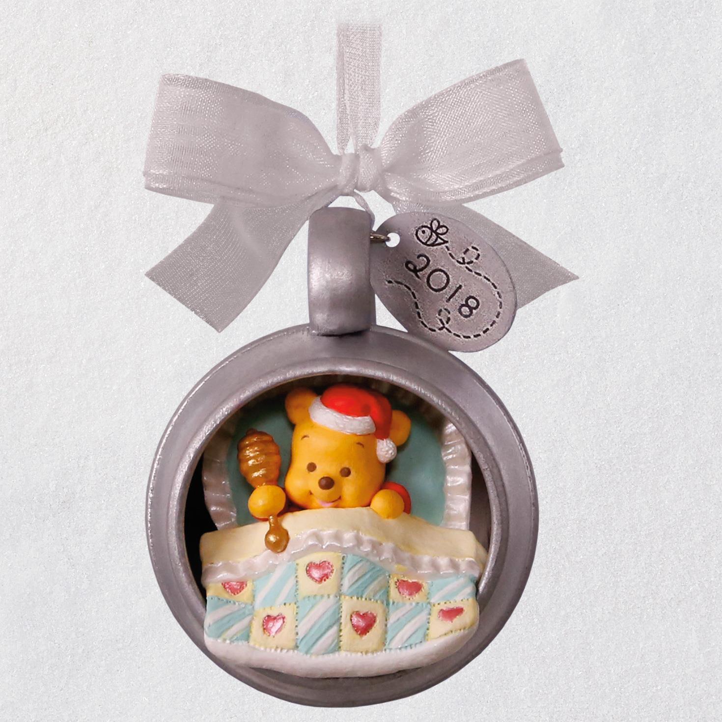 Disney Winnie The Pooh Baby's First Christmas 2018 Metal