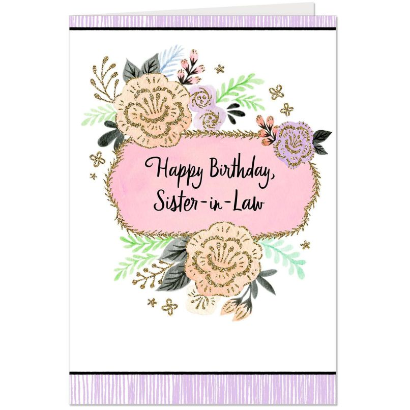 Free Printable Sister In Law Birthday Cards Harambee Co