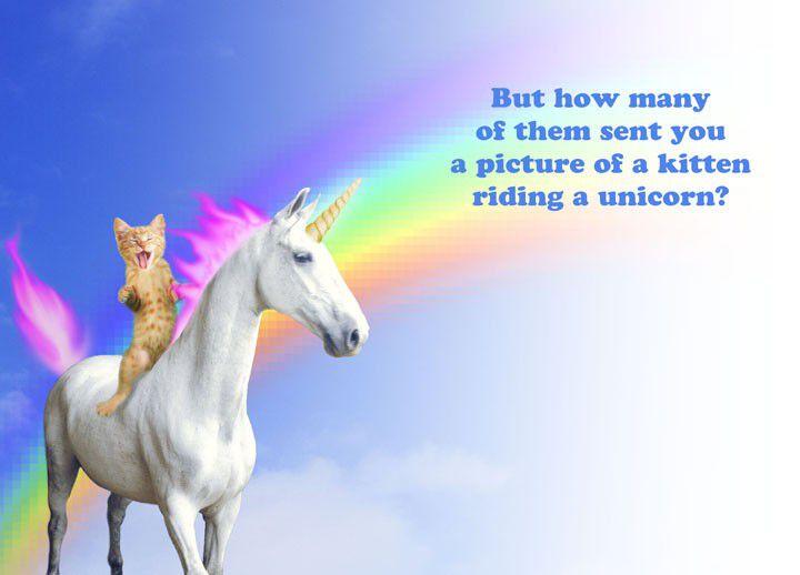 Kitten Riding A Unicorn Funny 21st Birthday Card
