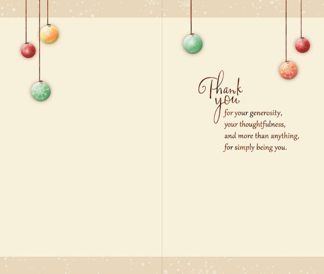 Ornament Tree Holiday Thank You Card