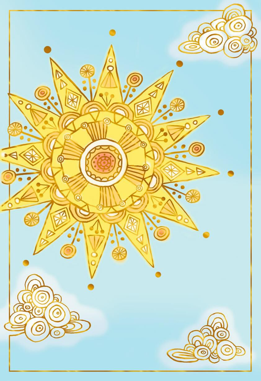 Sun And Clouds Blank Thinking Of You Cards Pack Of 10
