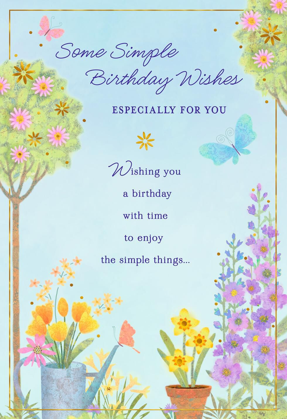 Simple Wishes Flower Garden Birthday Card Greeting Cards Hallmark