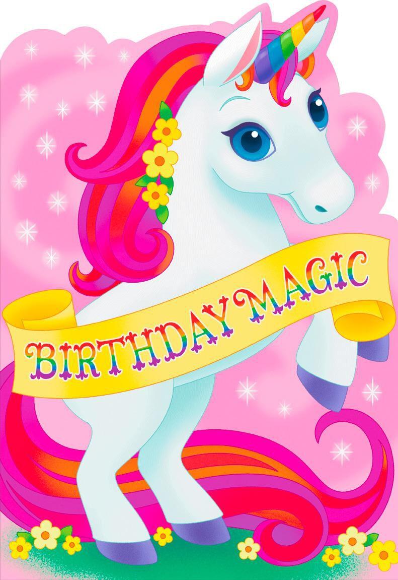 Birthday Magic Unicorn Jumbo Birthday Card 1625