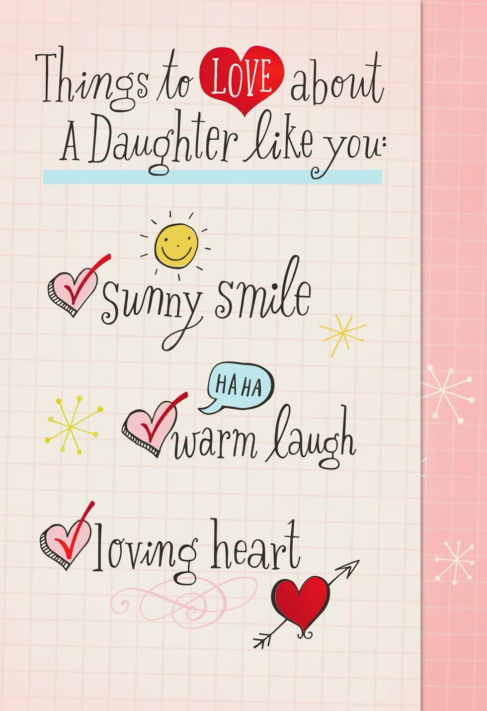 Daughters Valentines Day Card Verses