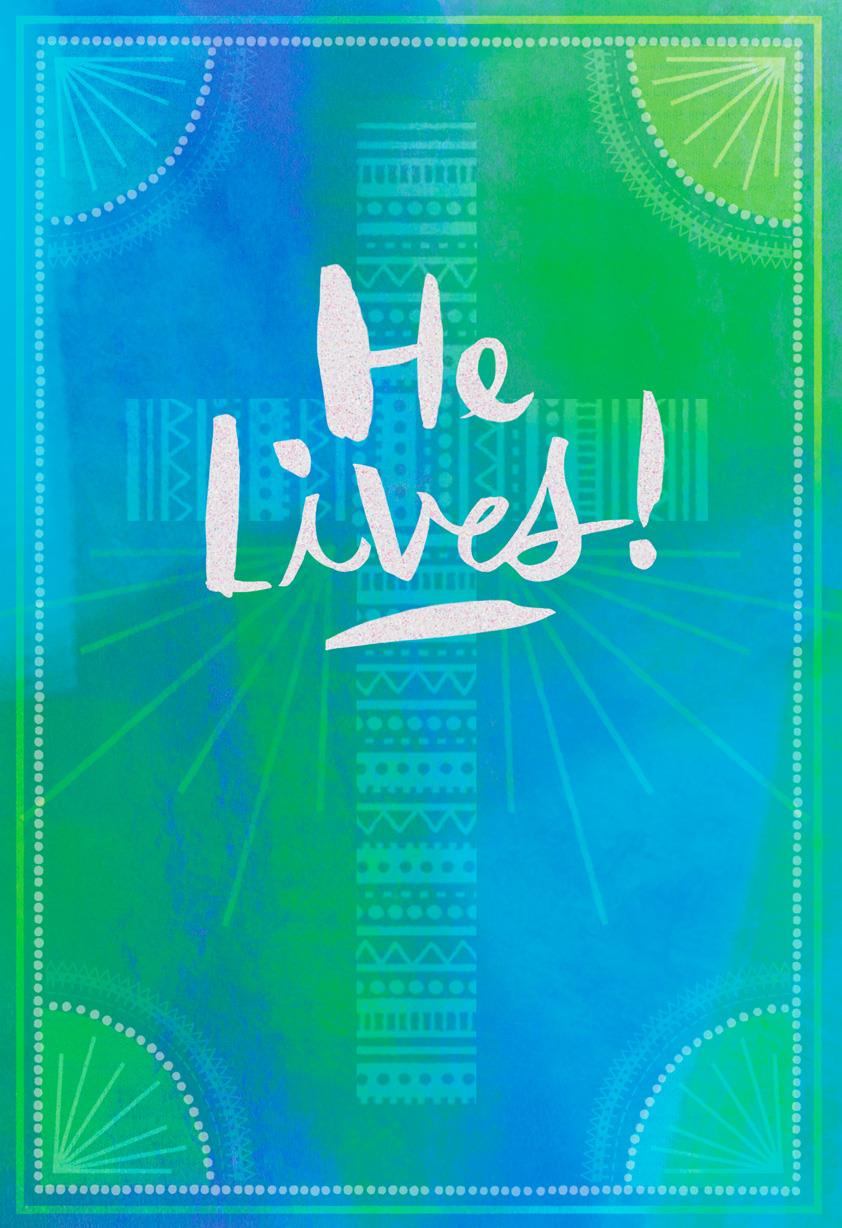 He Lives Religious Cross Easter Card Greeting Cards