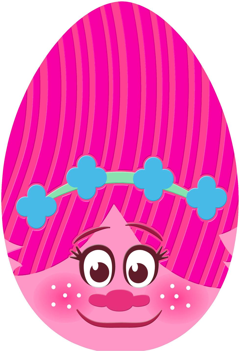 DreamWorks Trolls Poppy Egg Easter Card For Kid Greeting