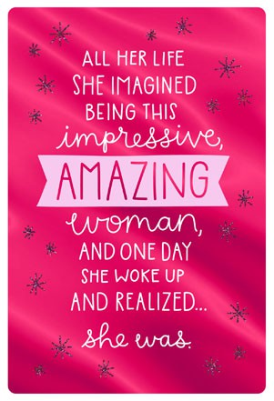 Amazing Woman Friendship Card Greeting Cards Hallmark