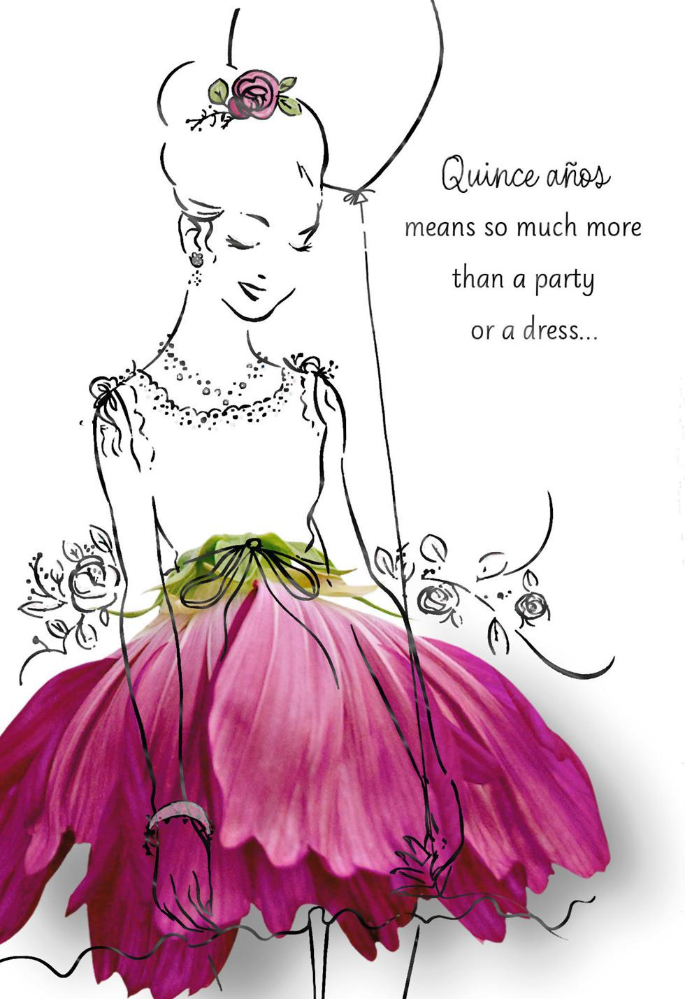 Frills And Thrills Quinceaera Card Greeting Cards