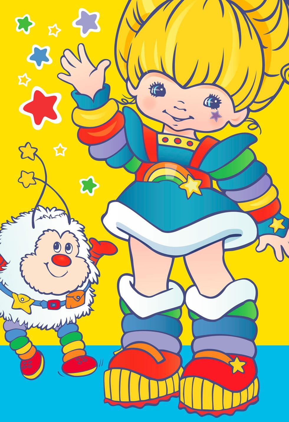 Rainbow Brite Dress Up With Stickers Card for Kid  Greeting Cards  Hallmark