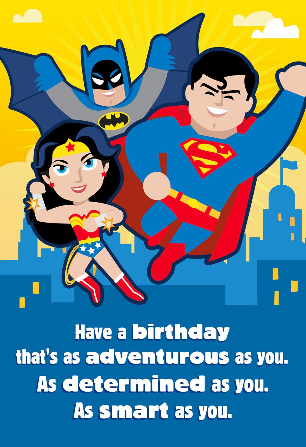 Justice League As Adventurous As You Musical Birthday