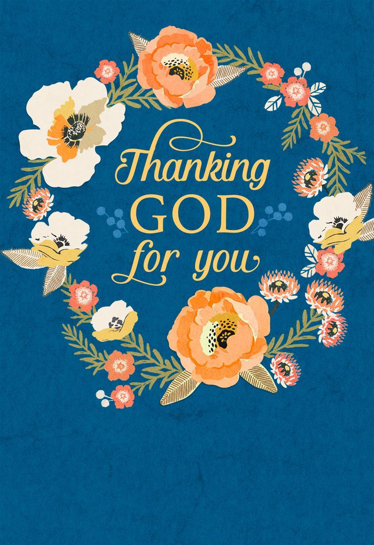 Bright Flower Wreath Clergy Appreciation Card Greeting
