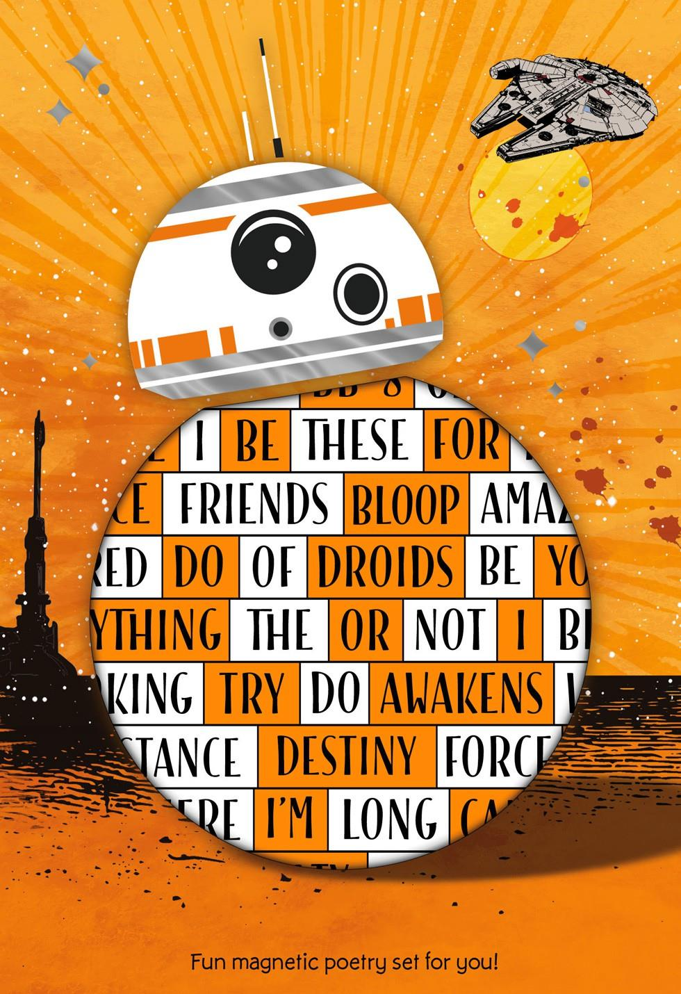 Star Wars The Force Awakens Bb 8 Card With Magnetic