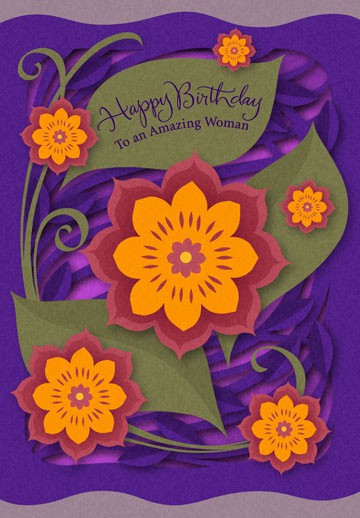 To An Amazing Woman Birthday Card Greeting Cards Hallmark
