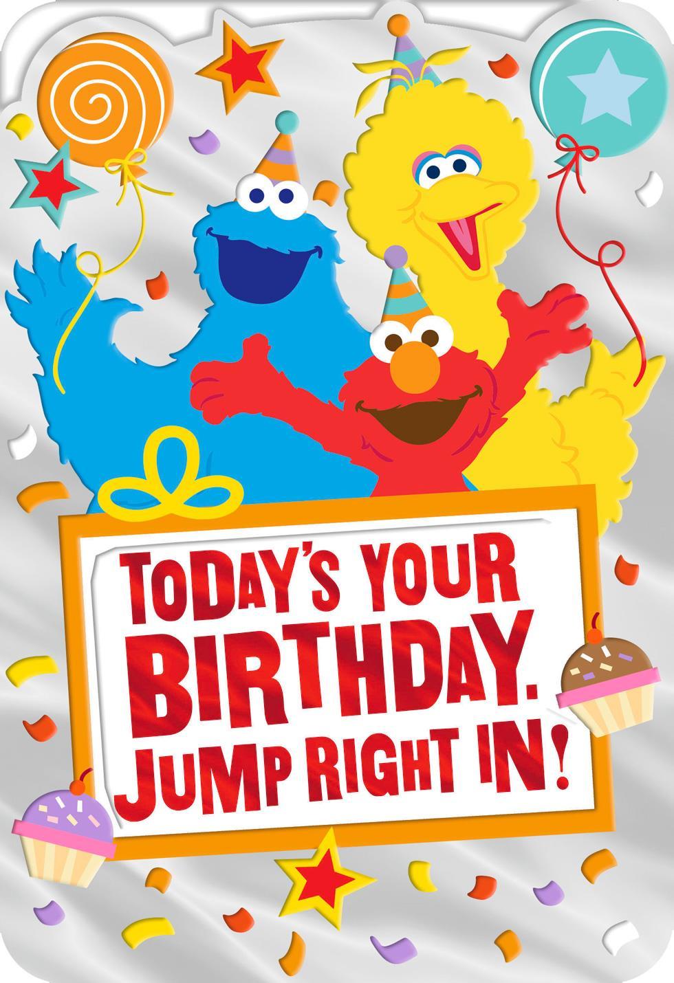 Sesame Street® Elmo Big Bird And Cookie Monster Birthday