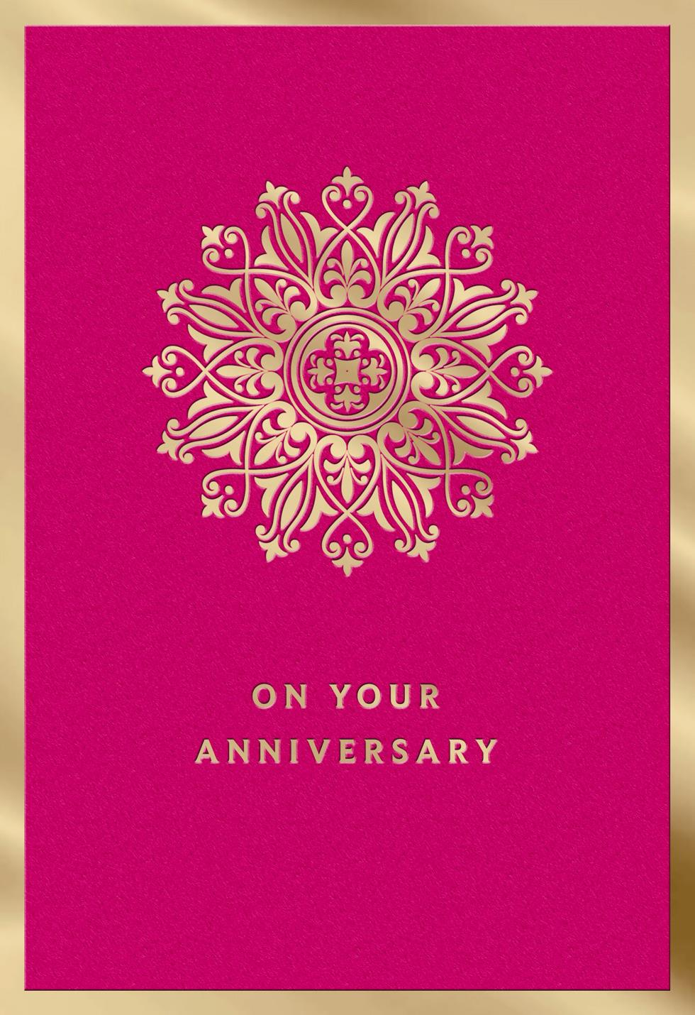 Many More Years Of Happiness Anniversary Card Greeting