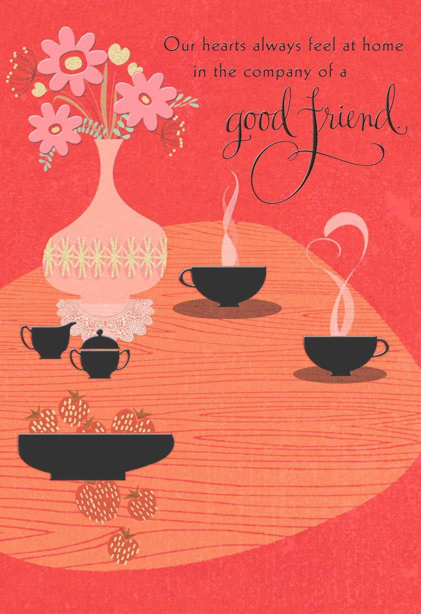 Company Of A Good Friend Religious Just Because Card