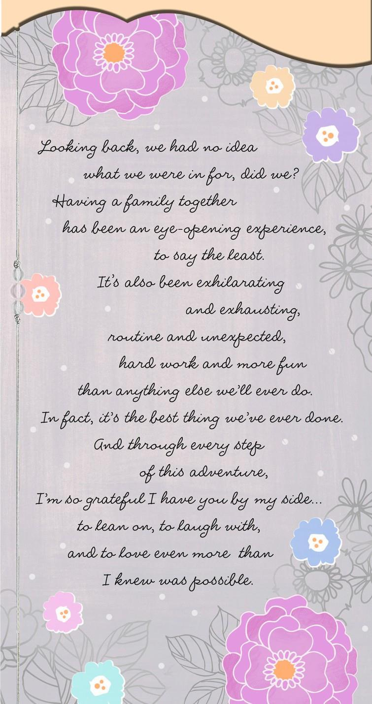 Thankful To Have You By My Side Mothers Day Card For Wife