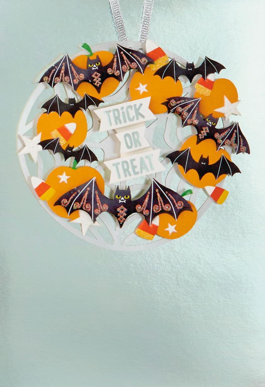 Bats And Pumpkins Halloween Card Greeting Cards Hallmark