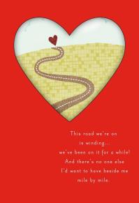 The Lovely Road of Life Valentine's Card for Husband ...