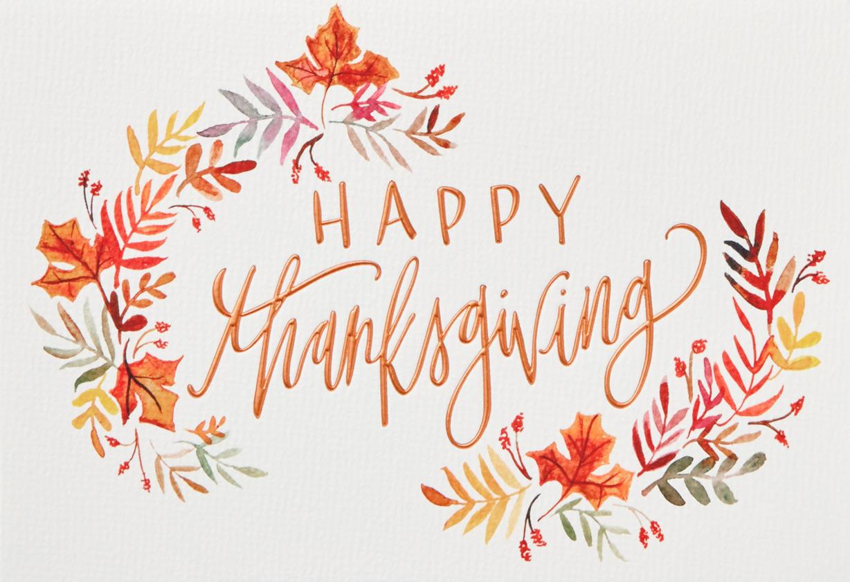 Blessings And Love Thanksgiving Card Greeting Cards