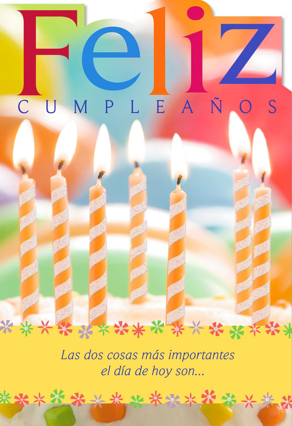 Candles Spanish Language Religious Birthday Card Greeting Cards Hallmark