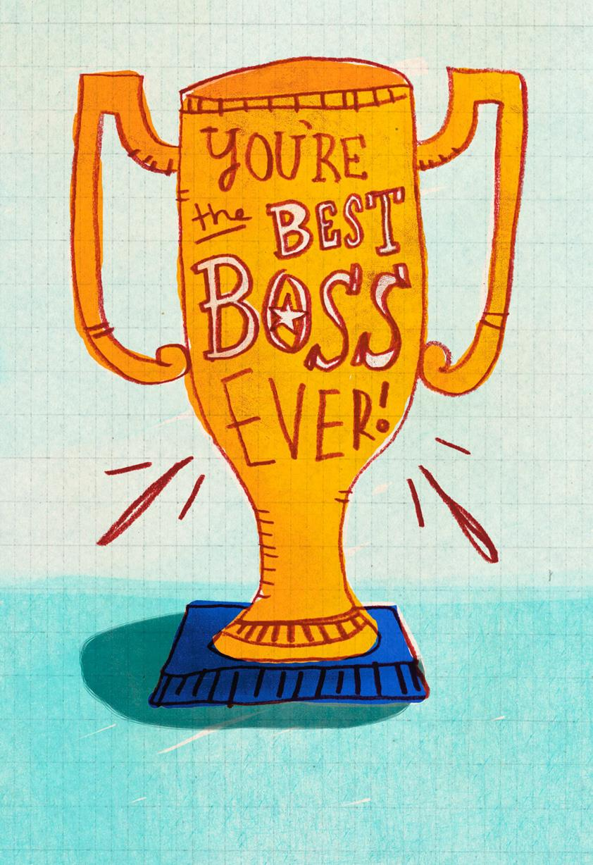 Best Boss Award Funny Bosss Day Card Greeting Cards