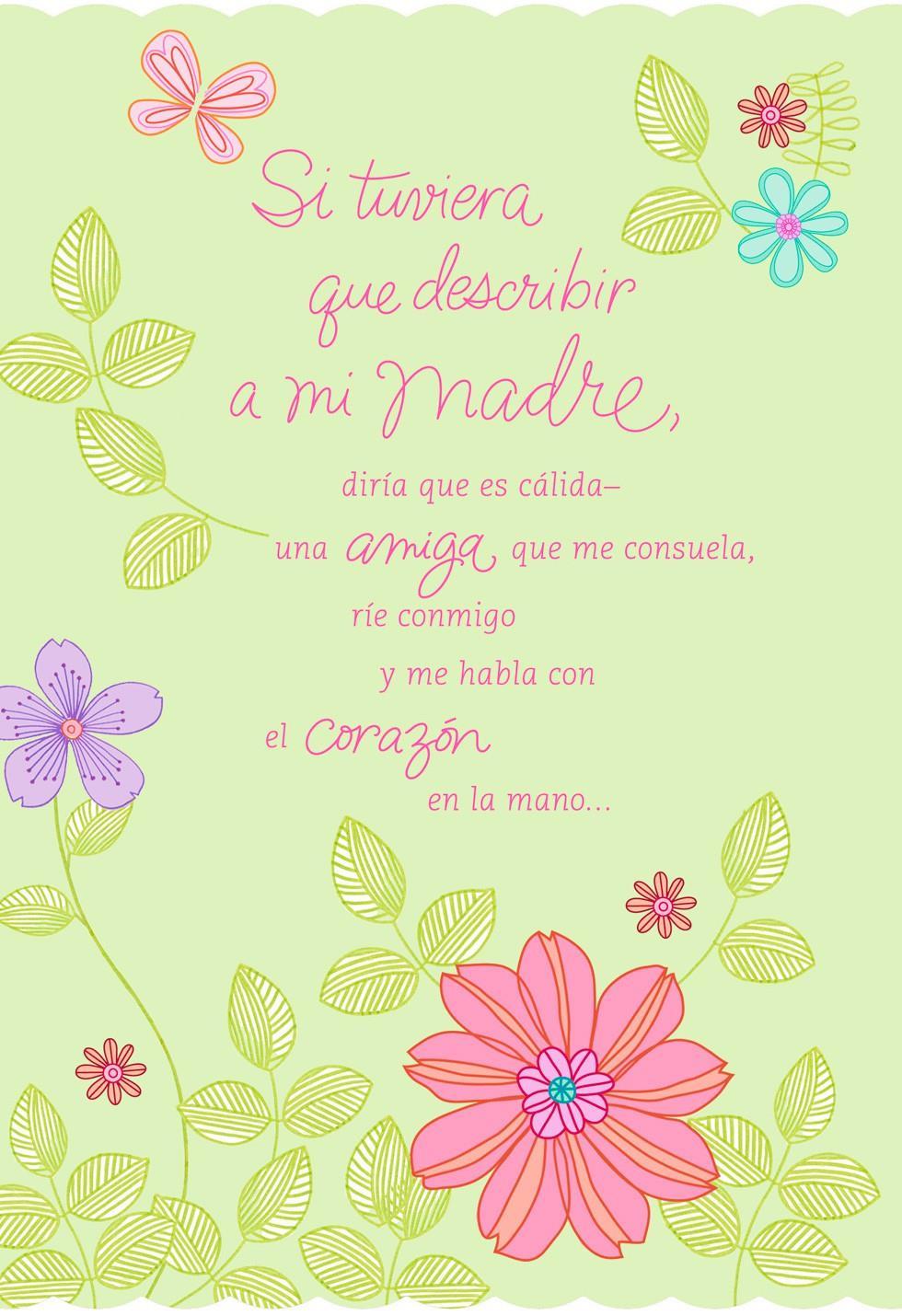Te Quiero Mucho Mamá Día De Las Madres Greeting Cards