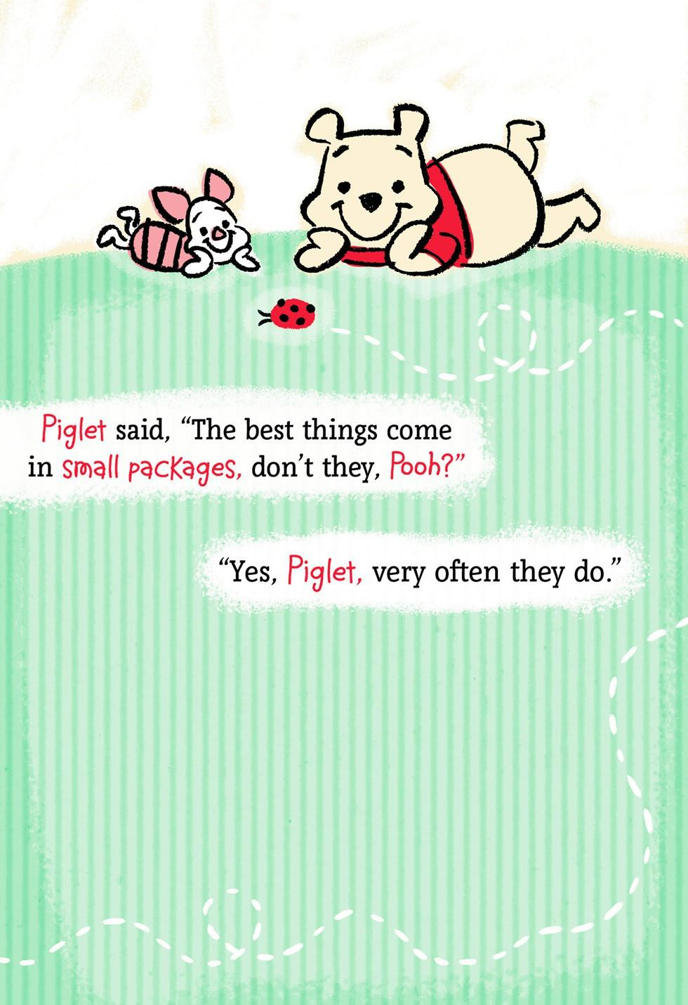 Winnie The Pooh And Piglet New Grandchild Card Greeting