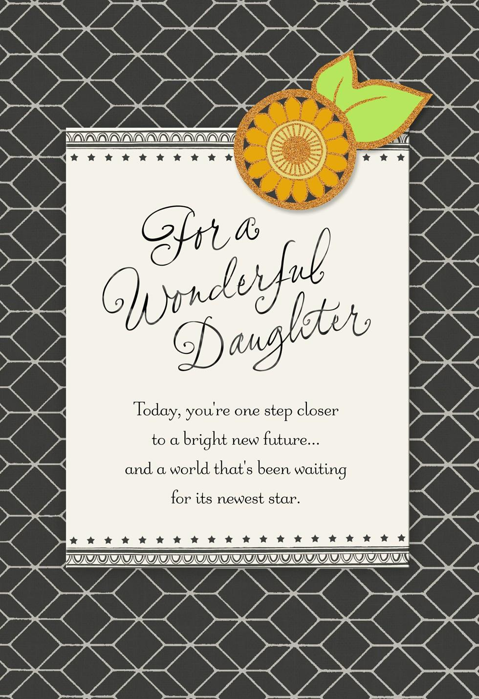 Sunflower Graduation Card For Daughter Greeting Cards