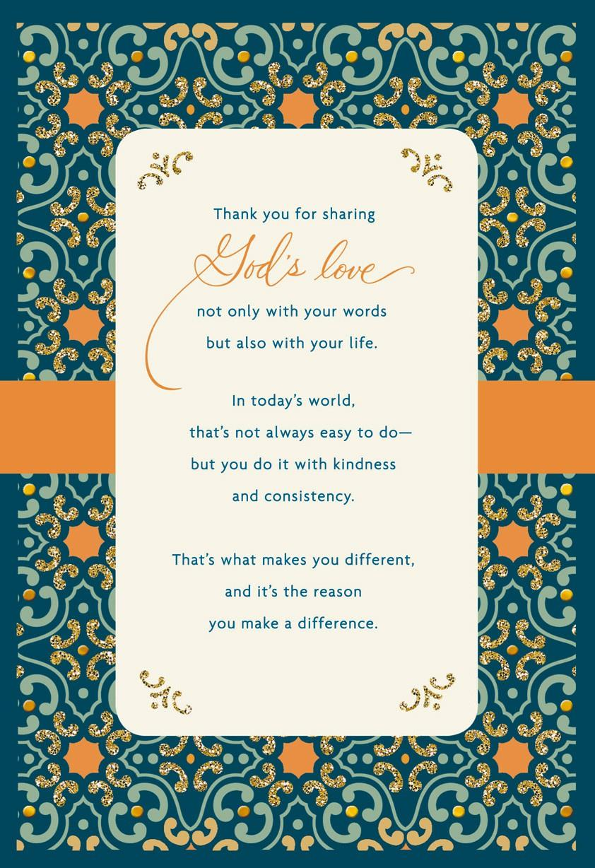 Sharing God's Love Clergy Appreciation Card Greeting