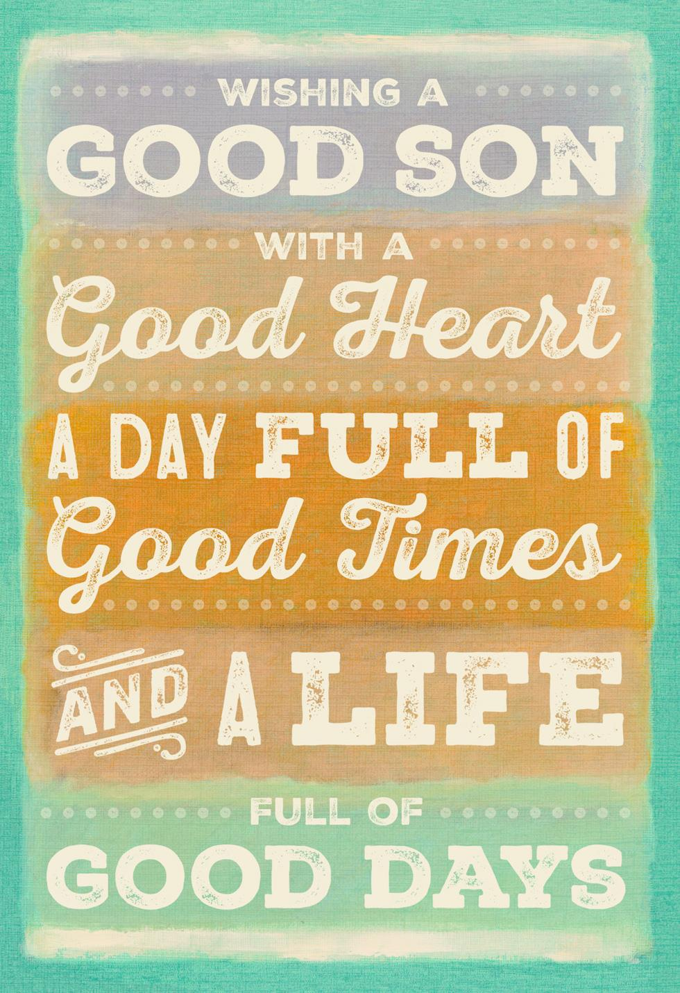 It's All Good Son Birthday Card Greeting Cards Hallmark