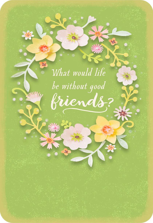 Flower Wreath Friendship Card Greeting Cards Hallmark