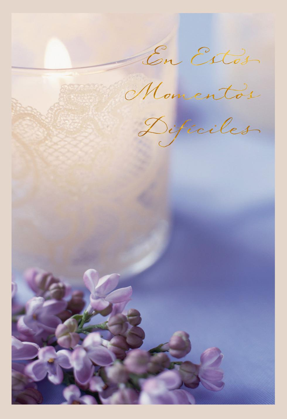 Lavender and Lace SpanishLanguage Sympathy Card
