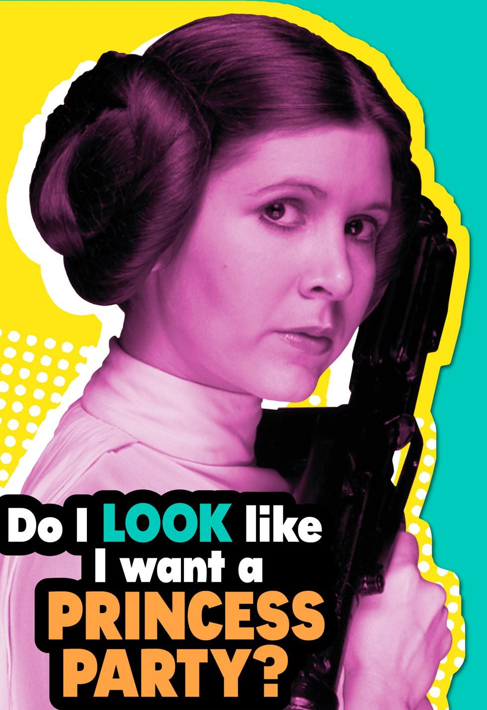 Star Wars Princess Leia Party Your Way Birthday Card