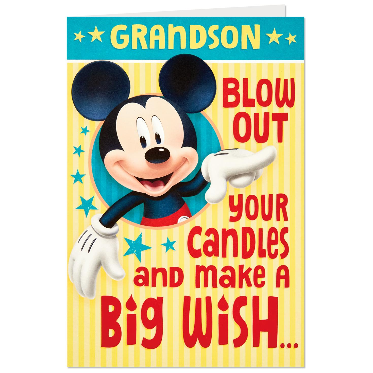 Disney Mickey Mouse Big Wish Pop Up Birthday Card For