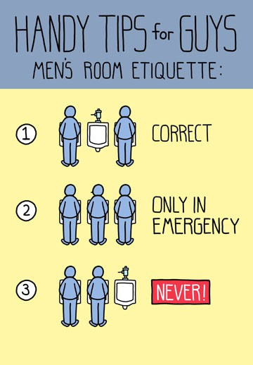 Manly Bathroom Etiquette Funny Birthday Card Greeting