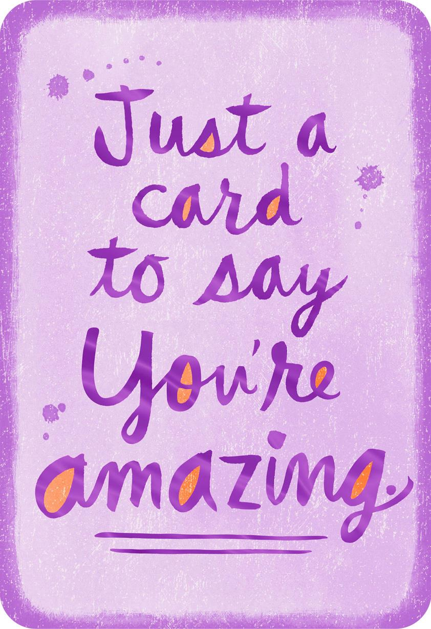 You're Amazing Thinking Of You Card Greeting Cards