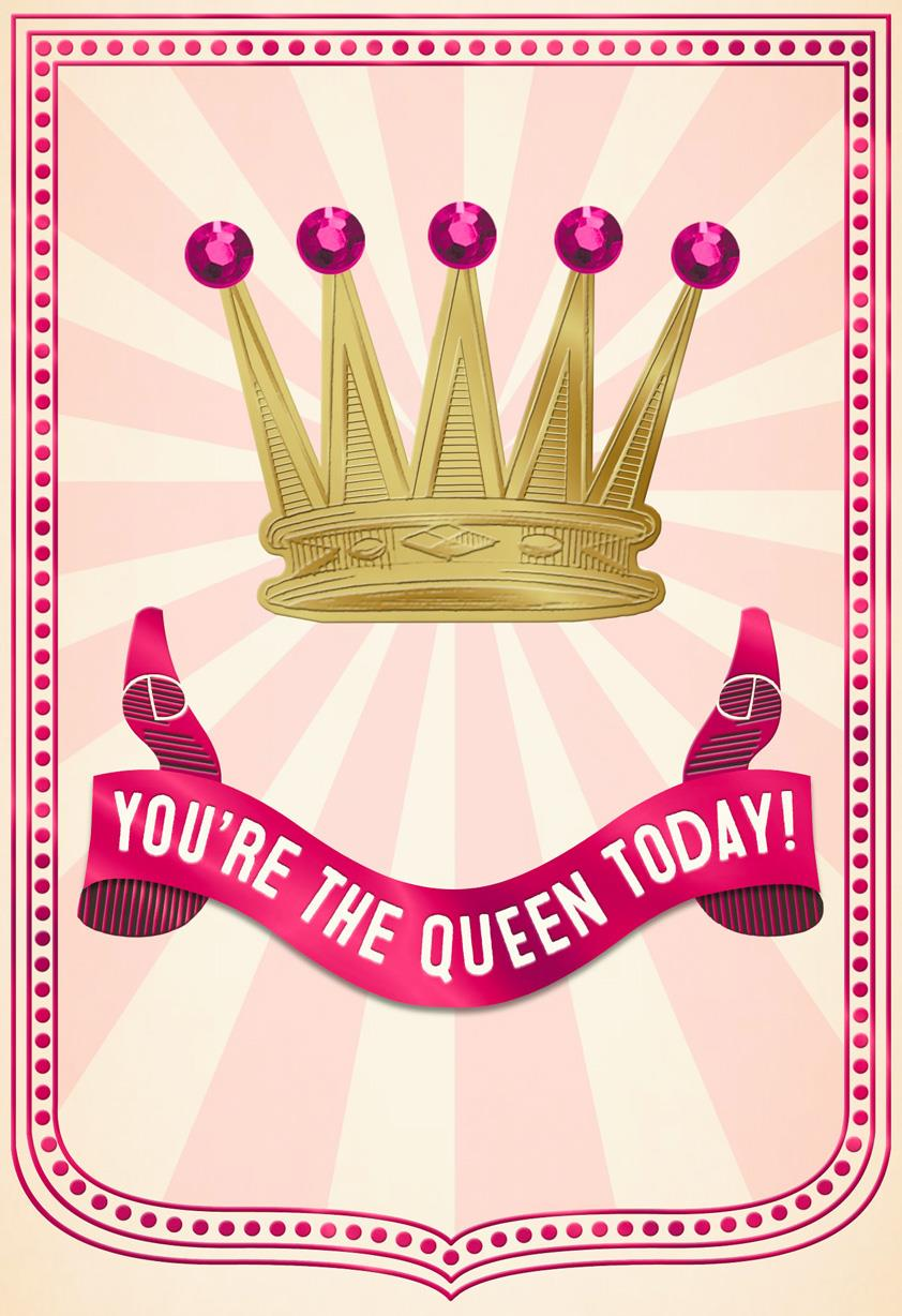 Queen For A Day Funny Mothers Day Card Greeting Cards
