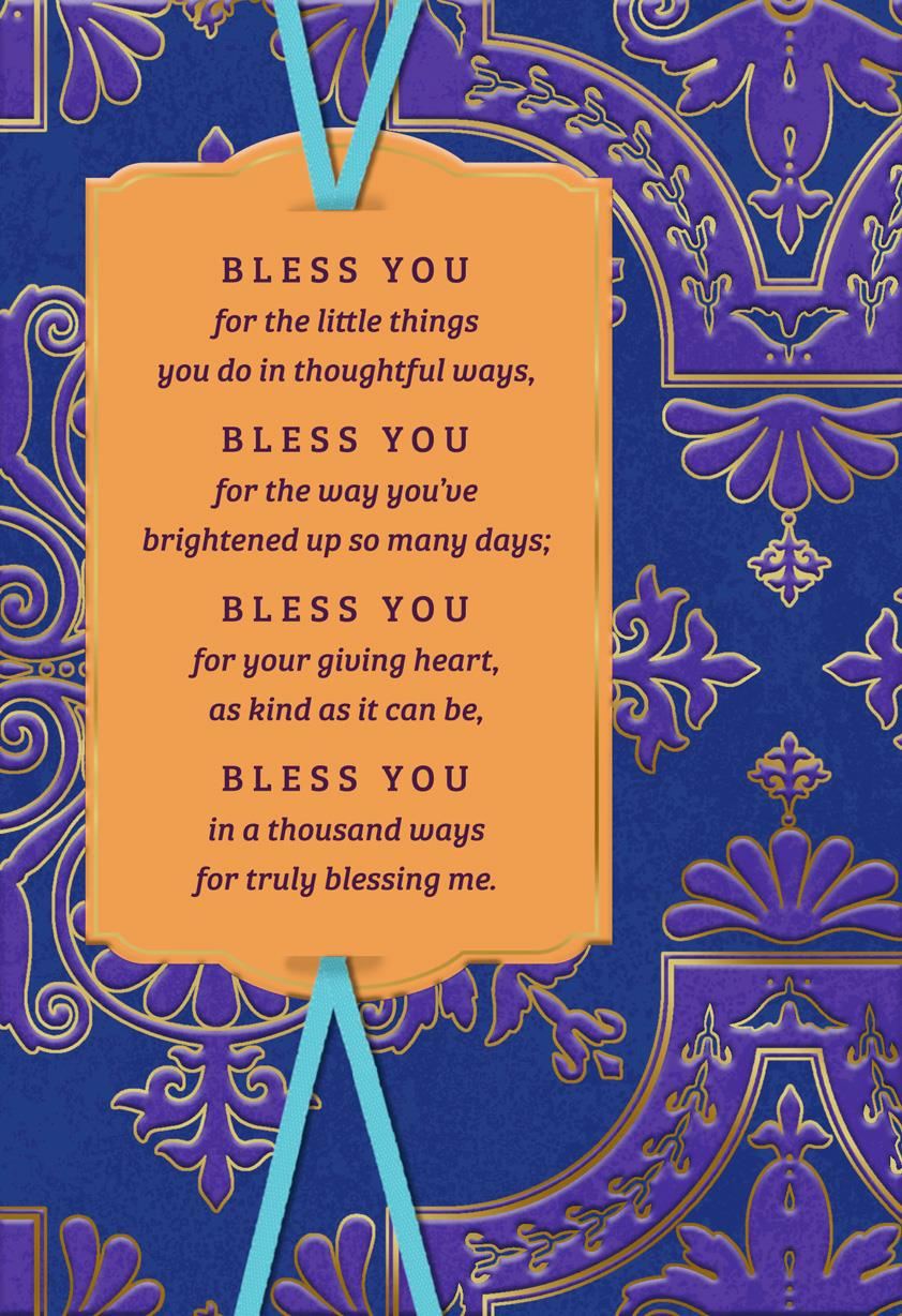 Blessings For You Religious Thank You Card Greeting Cards Hallmark